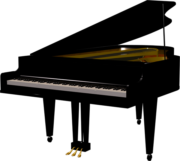 Piano png clipart. Black transparent gallery yopriceville