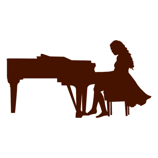 Musician music silhouette transparent. Piano svg jazz graphic library