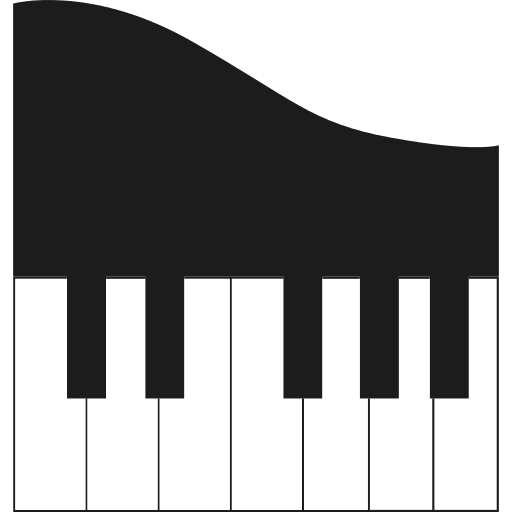 Png icon repo free. Piano svg jazz vector black and white