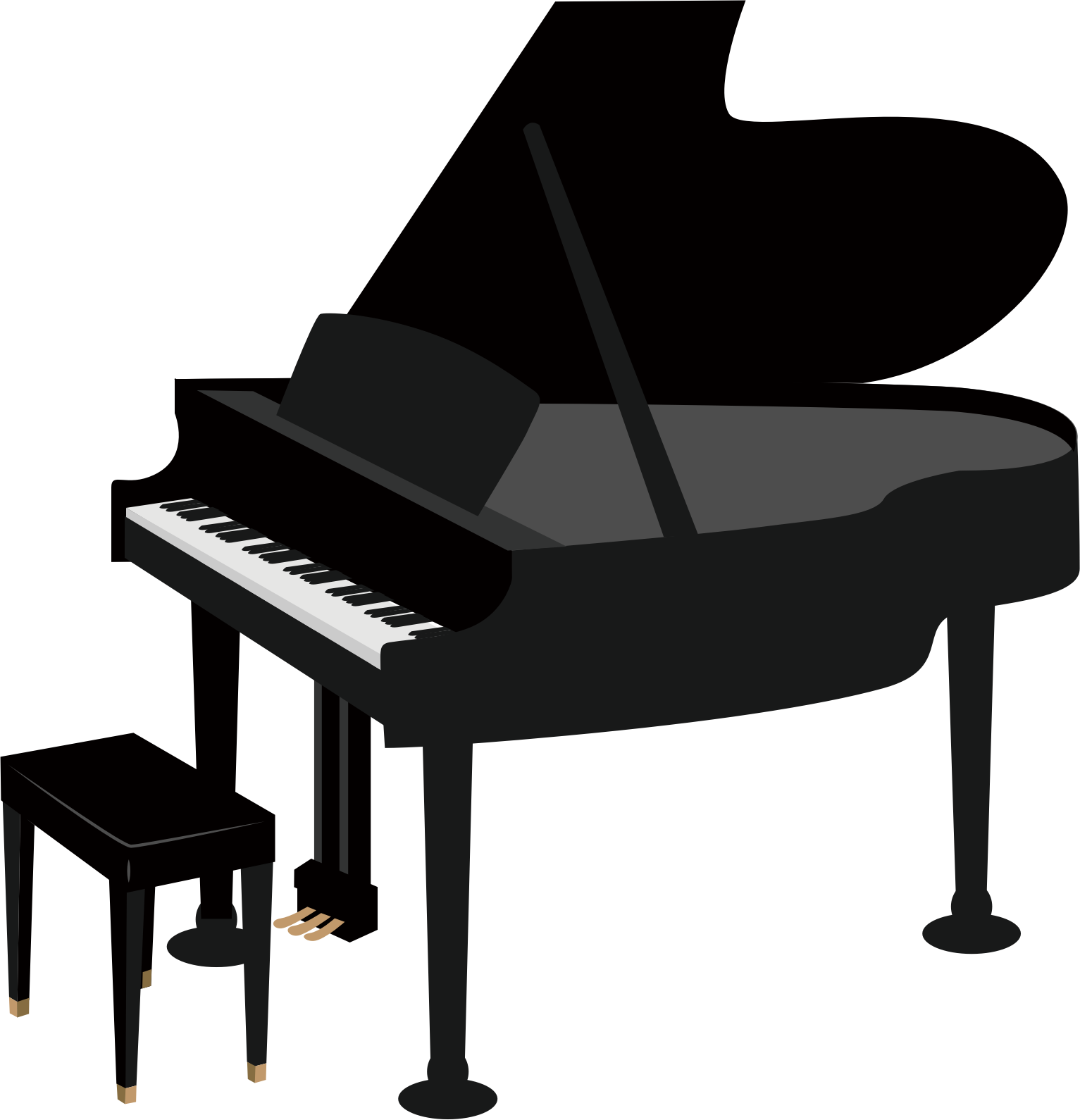 Clipart grand piano image. Transparent pianos big png freeuse library