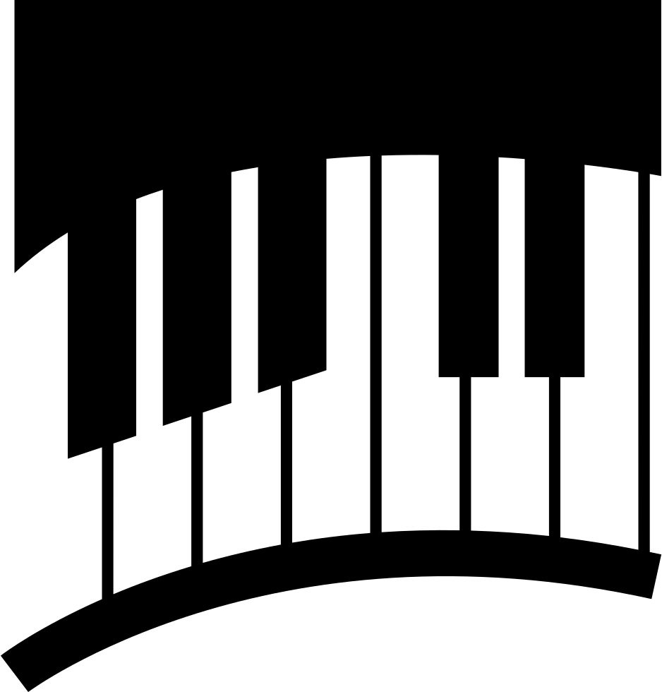Piano svg simple. Keys in curve png