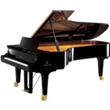 Transparent pianos industrial. Grande piano background image