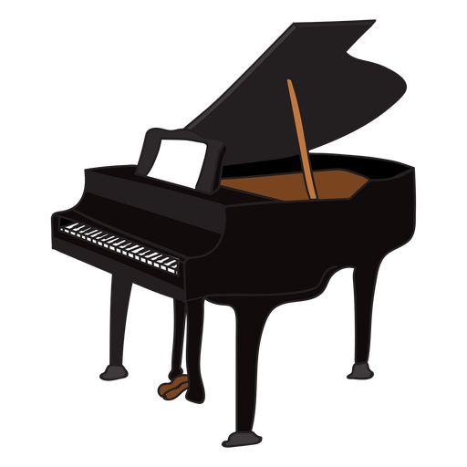 Piano vector png. Musical instrument doodle transparent