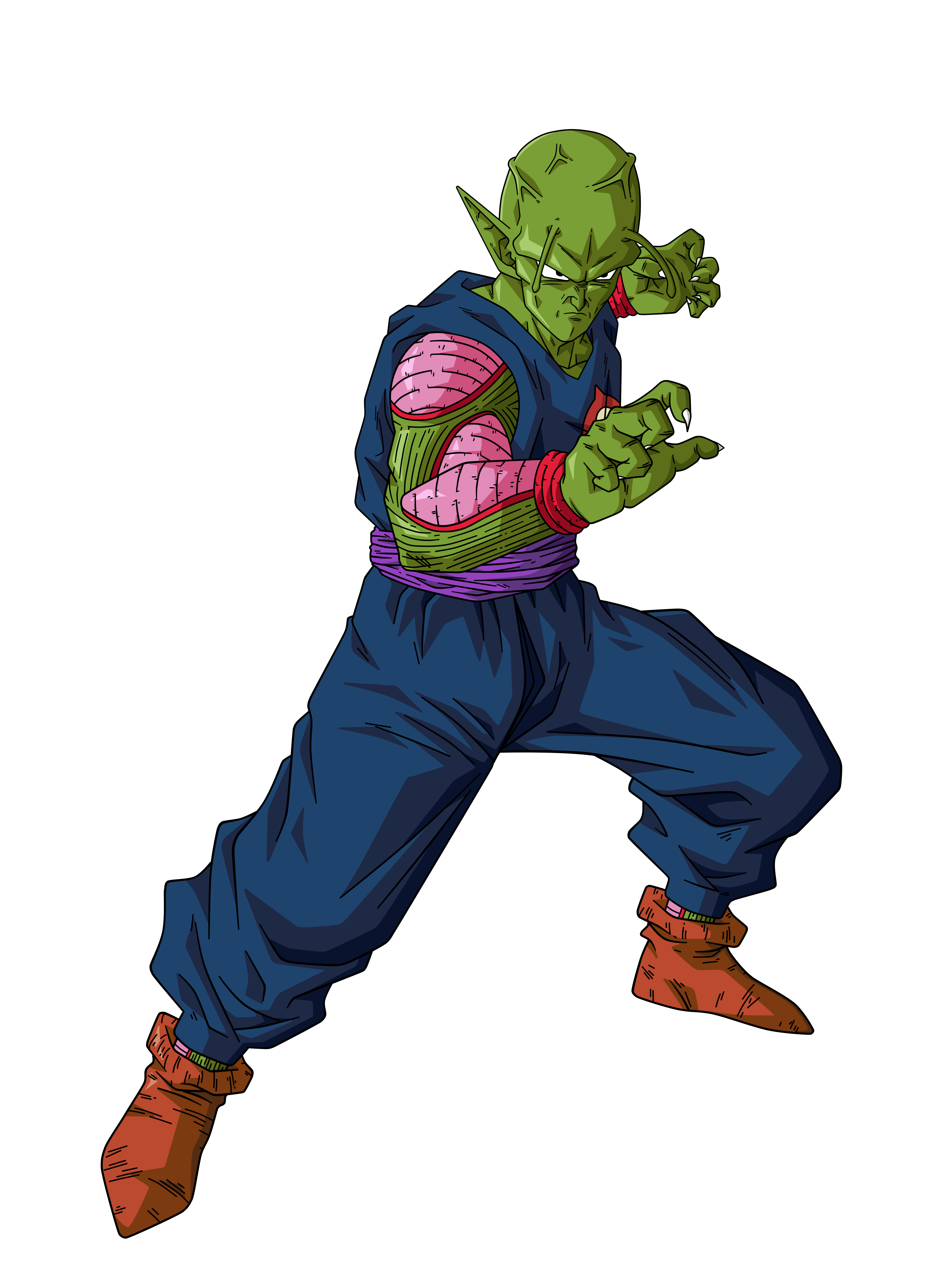 Piccolo face png. Daimaoh by bardocksonic on