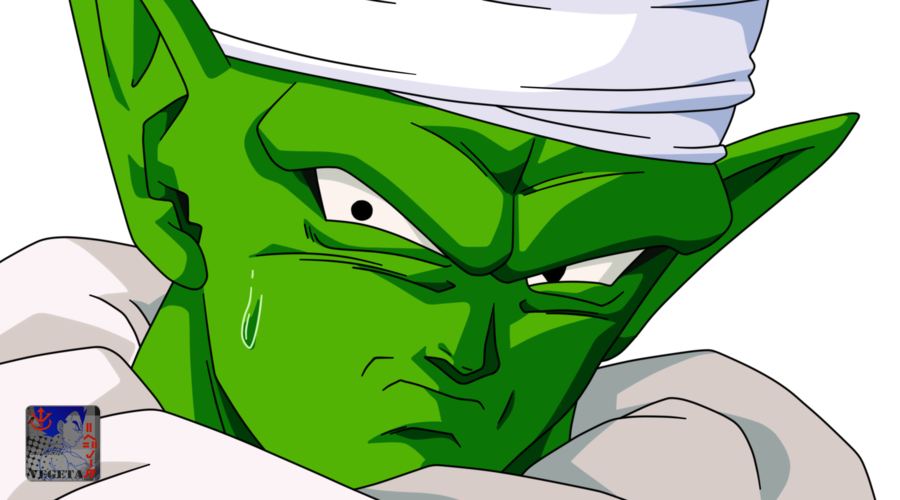 Piccolo face png. Lineart color by prinzvegeta