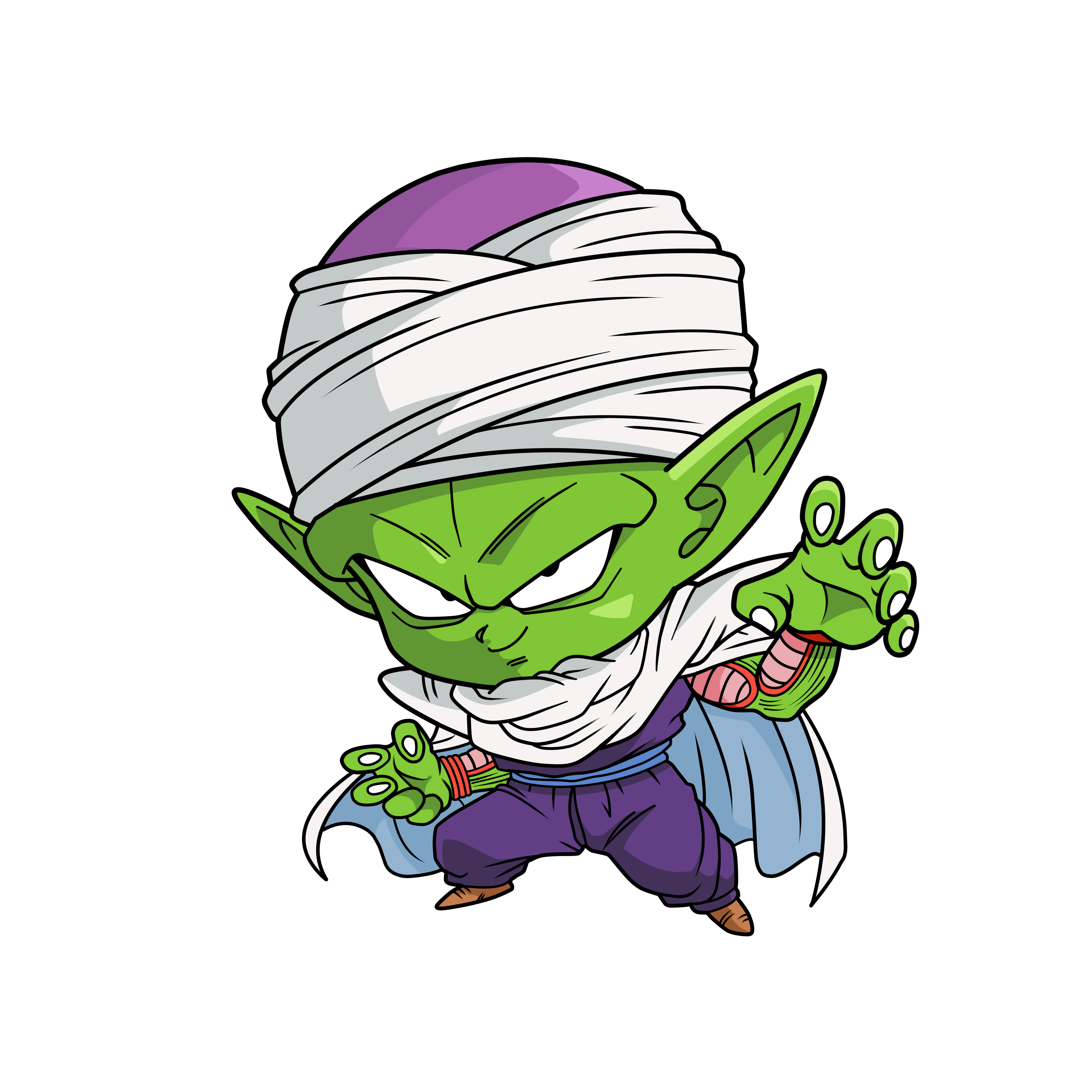 Piccolo face png. Chibi dragon ball pinterest