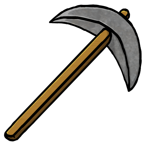 weapon drawing pickaxe