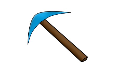 Weapon drawing pickaxe. Of by hex art