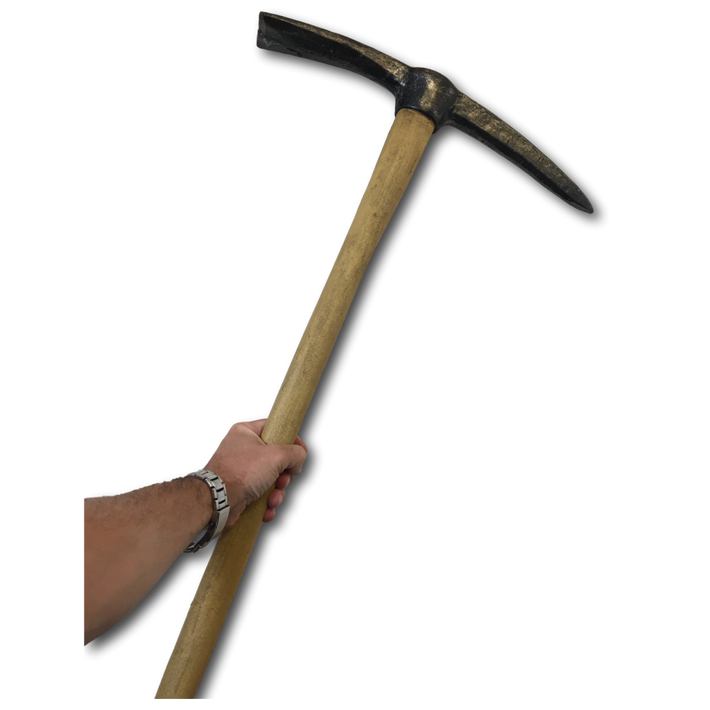 Pickaxe transparent fake. Real size pick axe
