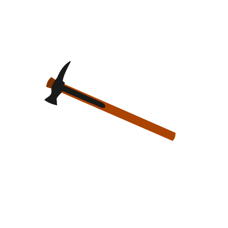Weapon drawing pickaxe. Line angle free commercial