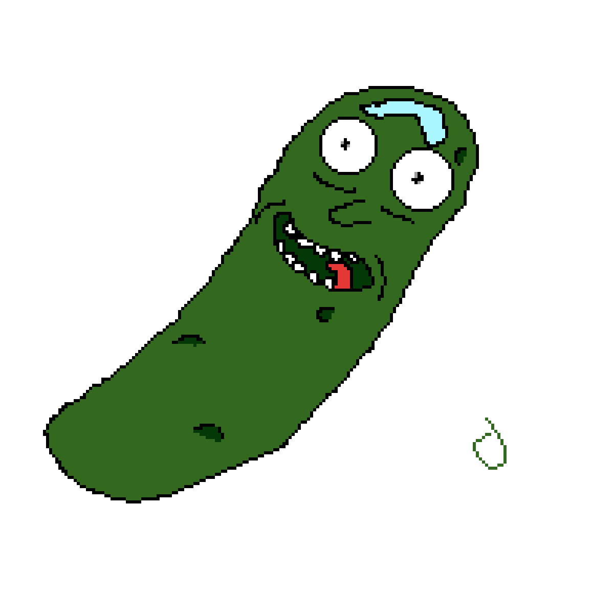 Pickle clipart drawn. Pixilart rick by wolves