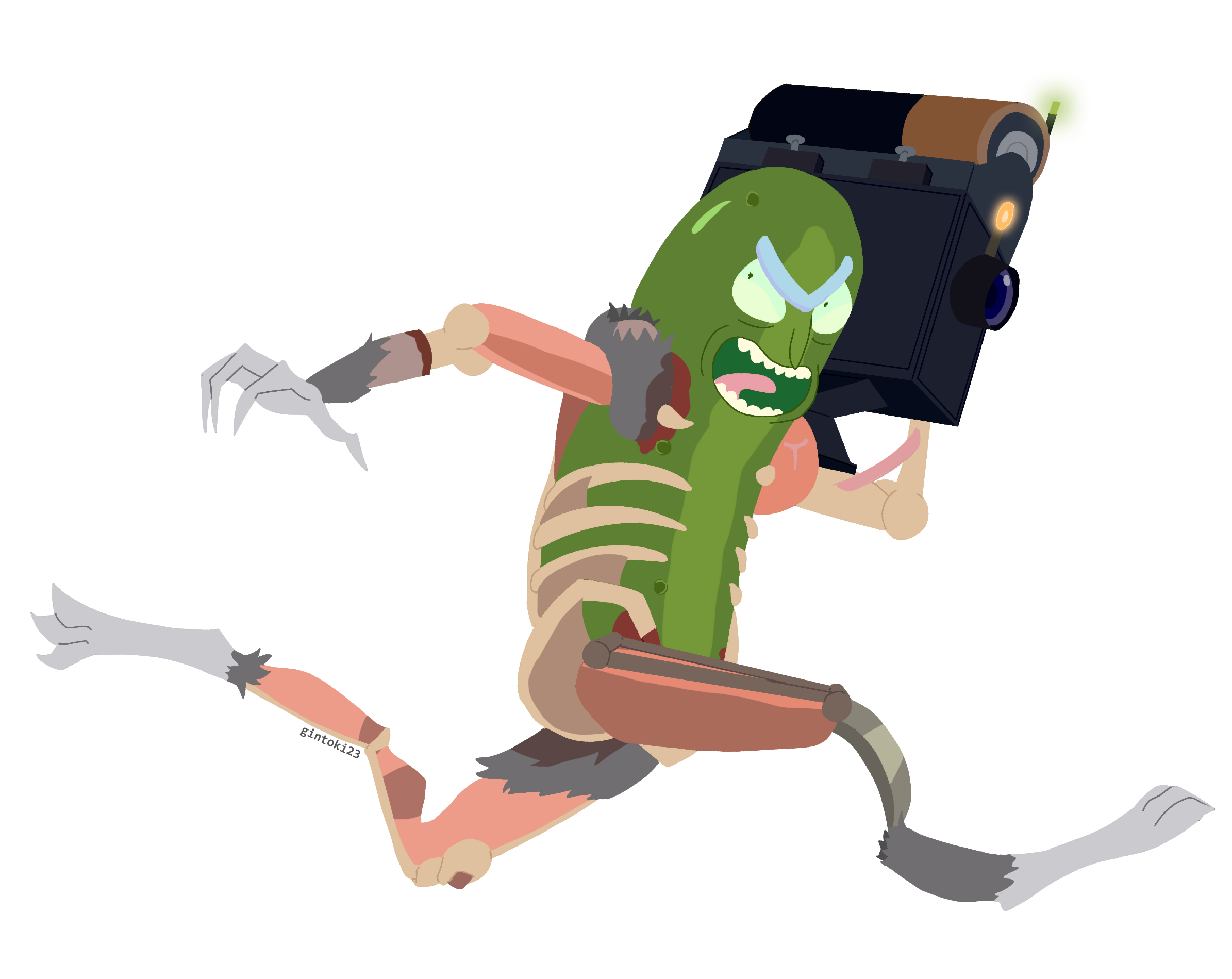Pickle rick face png. Fanart look at go
