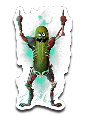 Pickle rick transparent png. It s sticker decal
