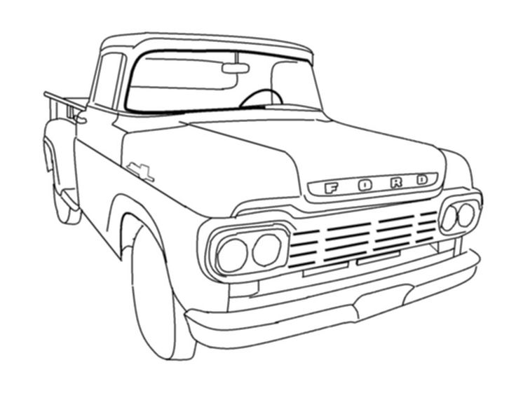 Pickup F100 Transparent Clipart Free Download