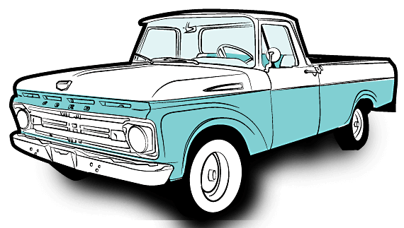 Chevy drawing f100. Arclight from aaron kaufman