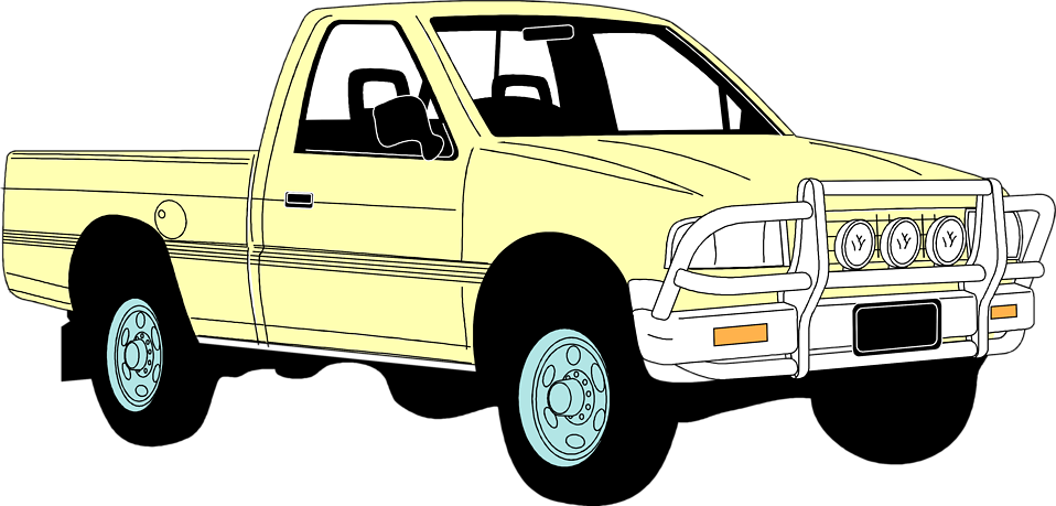 Pickup clipart yellow truck. Free stock photo illustration