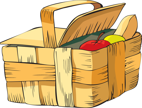 Picnic blanket cartoon png. Collection of hamper