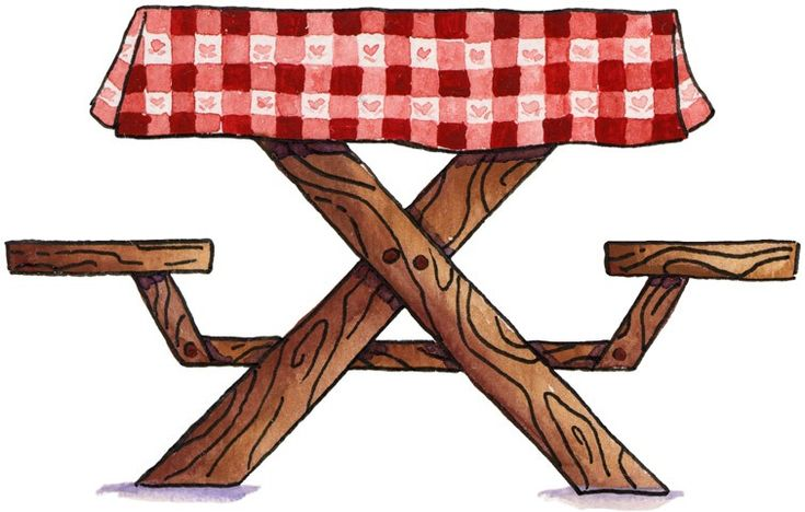 Picnic clipart picnic table. Best images on