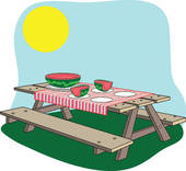 Picnic clipart picnic table. Family at getdrawings com