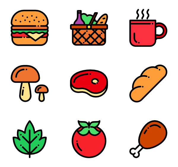 Picnic food png. Icon packs vector