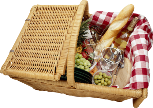 Picnic food png. Basket clipart gallery yopriceville