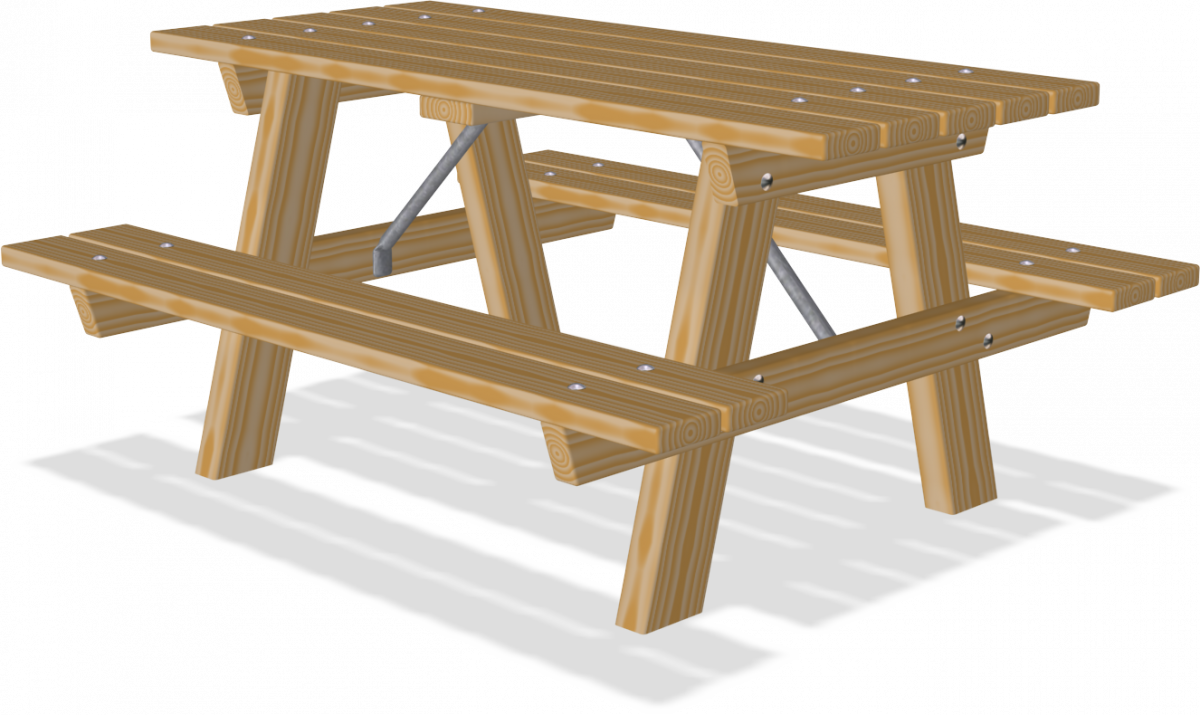Picnic table png. Pine wood benches tables