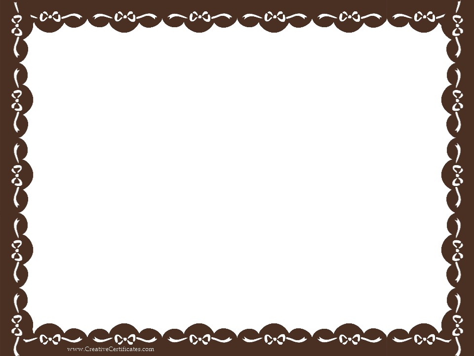 Picture borders png. Brown certificate border clip
