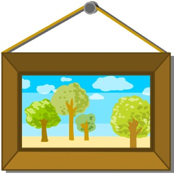 Picture clipart. Free wall painting cliparts