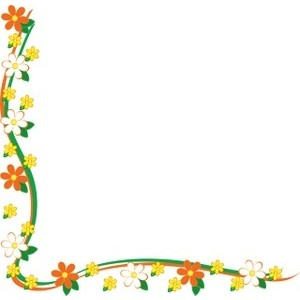 Picture clipart border. Yellow flowers clip art