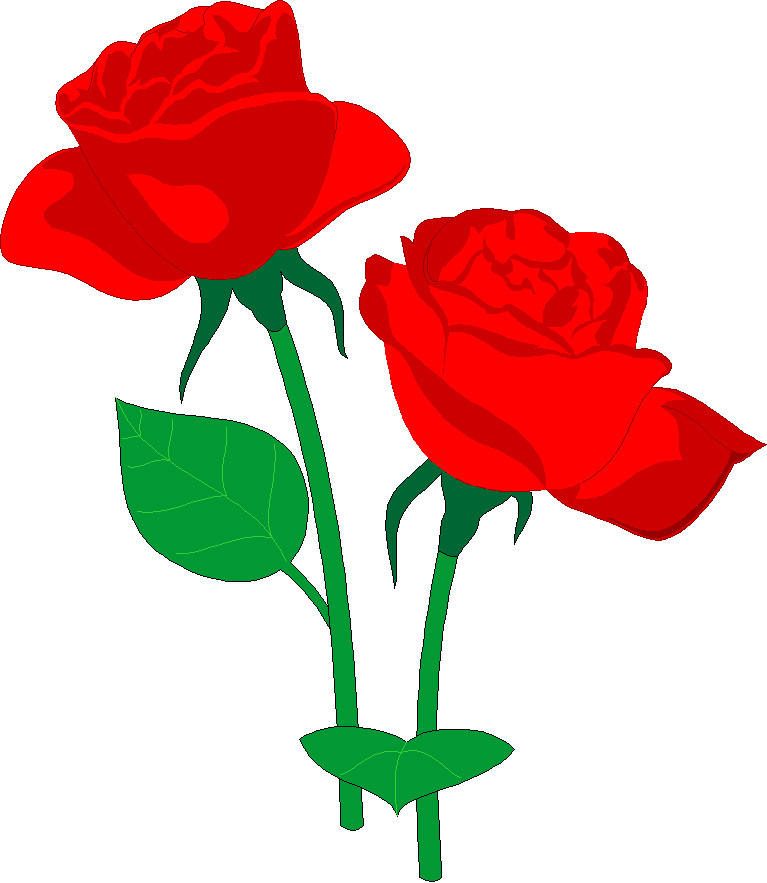 Public domain clipart red rose. Free clip art roses
