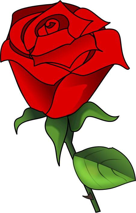 Rose clipart cartoon. Free cliparts download clip