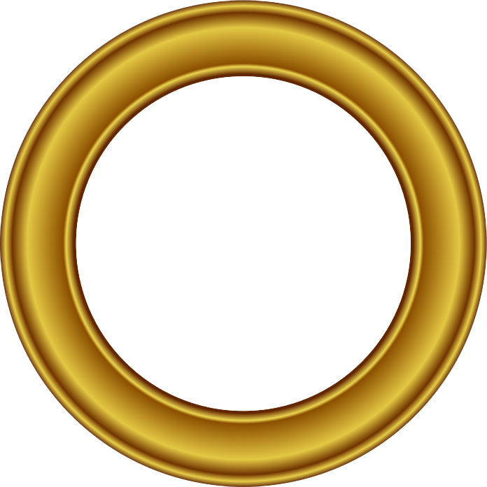 Picture frame png free. Golden round download mart