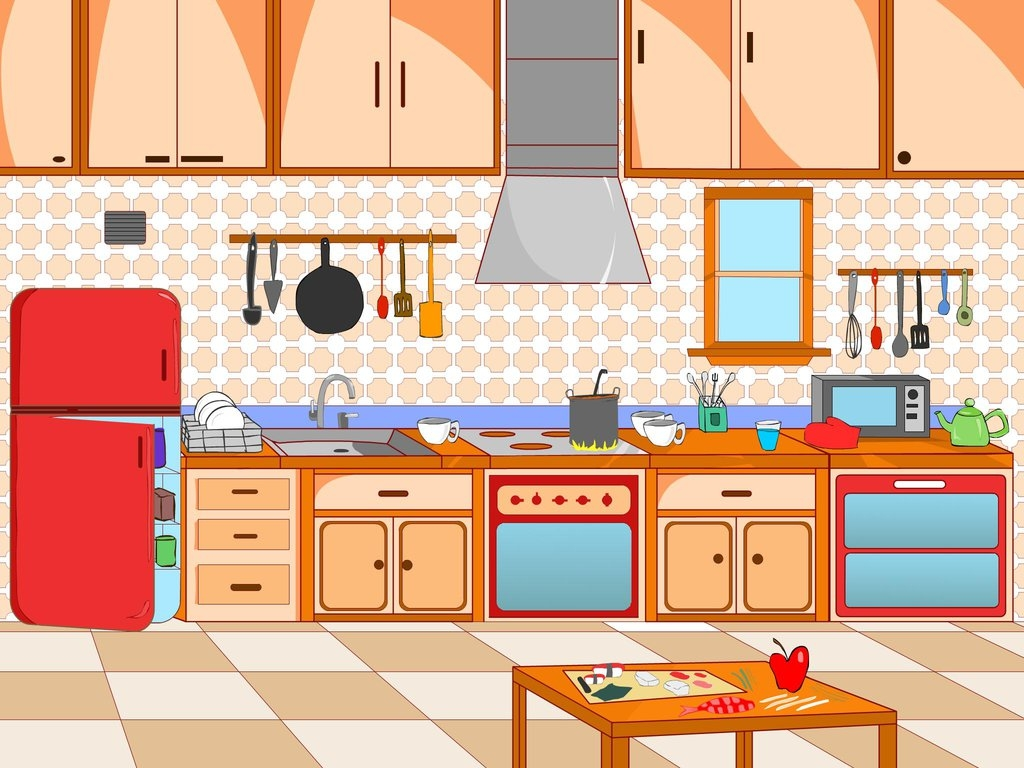 Pictures clipart kitchen. Fresh collection digital coloring