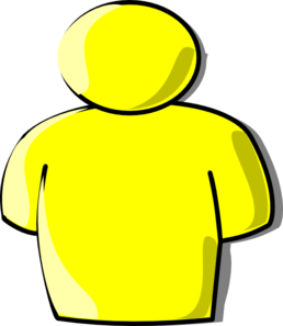 Pictures clipart person. Yellow clip art at