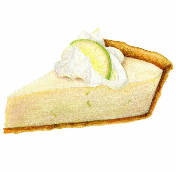 Pie clipart lime pie. Key art food illustration