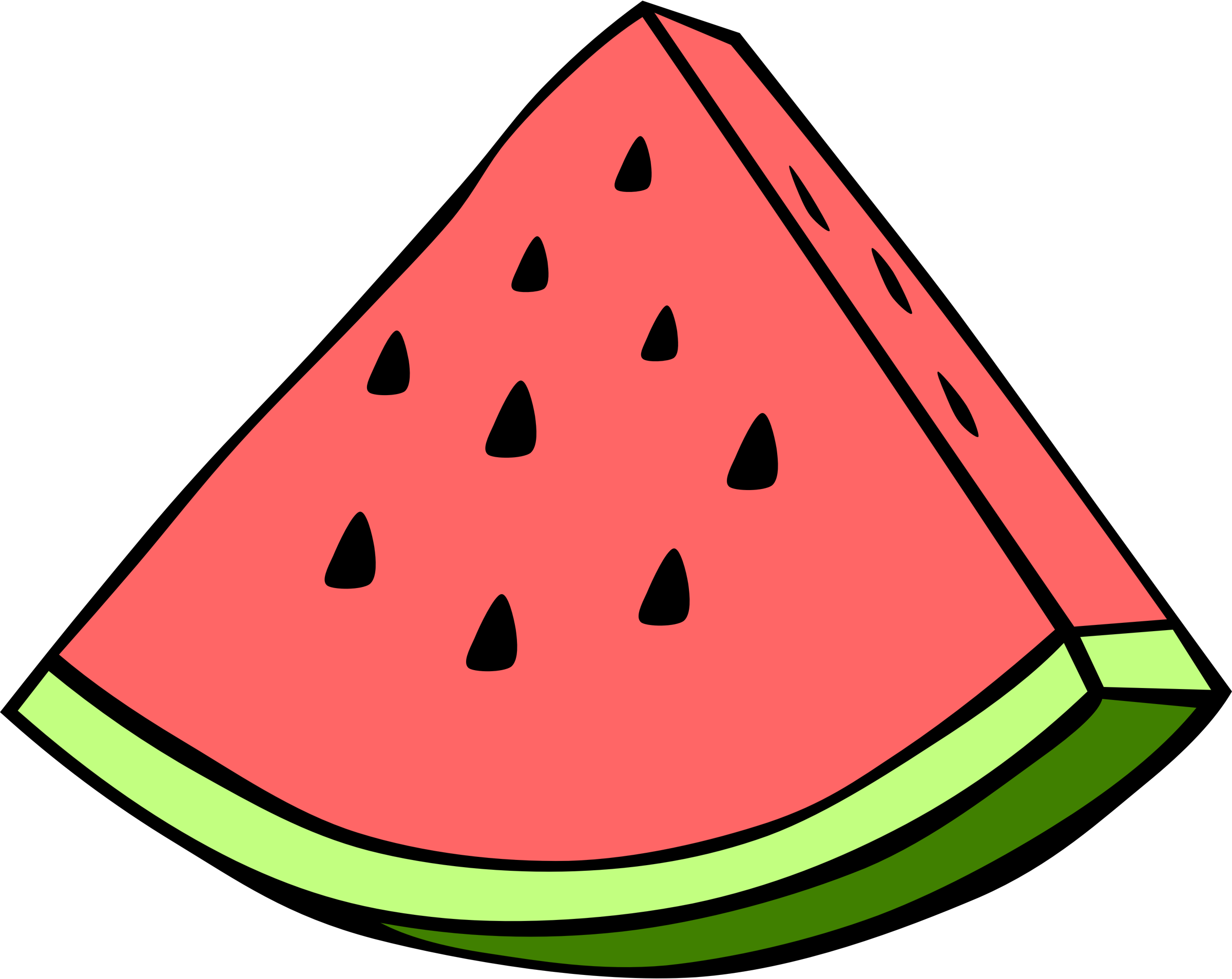 Pie clipart tumblr cartoon. Simple fruit watermelon by
