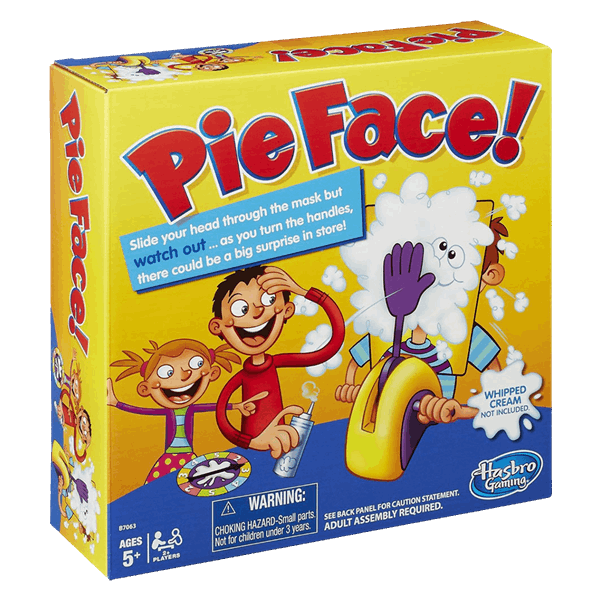 Pie face png. Game zing pop culture