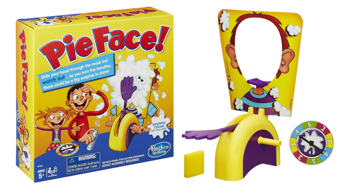 Pie in the face png. Board game eb games