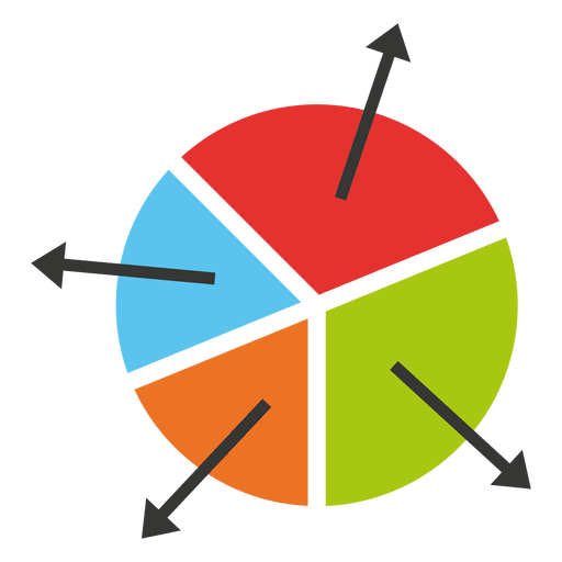 Pie png transparent. Chart with arrows svg