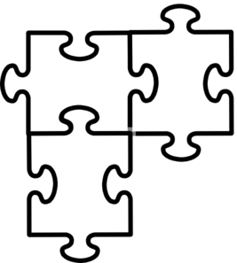Pieces clipart three. Puzzle connected clip art
