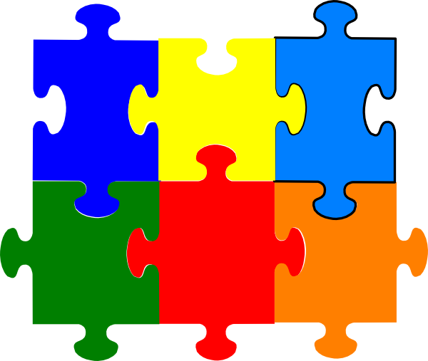 Pieces clipart 7 puzzle. Jigsaw clip art at