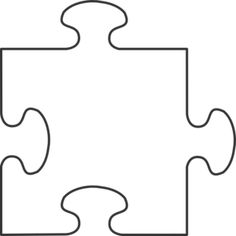 Pieces clipart puzzle time. Blank jigsaw template individual