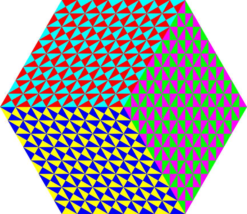 Tessellation vector architectural. Penrose triangle tiling symmetry