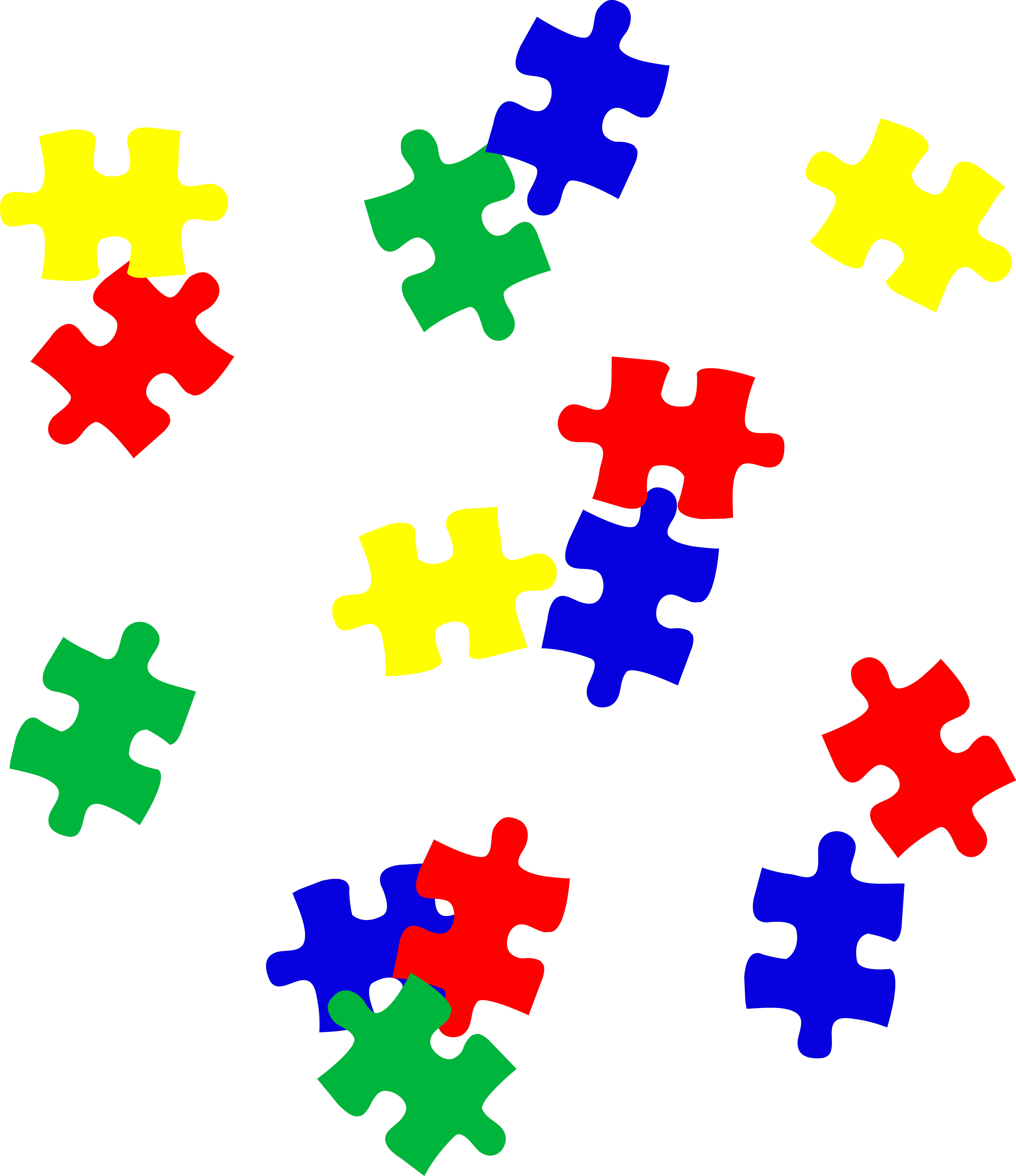 puzzle transparent scattered
