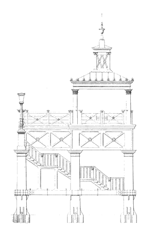 Pier drawing architecture. About us image