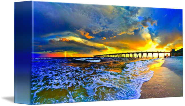 Rainbow sunset seascape blue. Drawing beach jpg black and white download