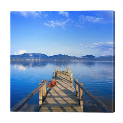 Pier vector jetty. Wooden or on a