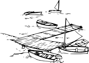 Pier vector wooden dock. Collection of free docked