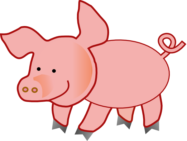 Pig clip art. Small at clker com