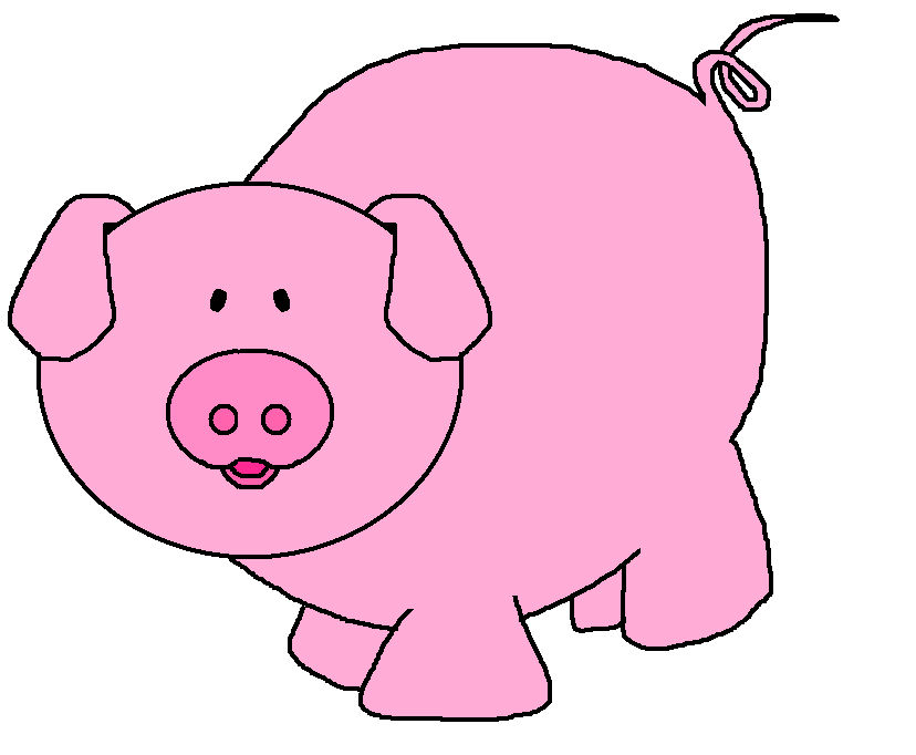 Pig clip art. Pigs cartoon clipart kid